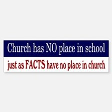 No Facts in Church RW+B Bumper Bumper Sticker