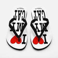 I Heart My Cat (White) Flip Flops