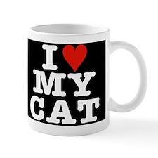 I Heart My Cat Mug Black w/white letters