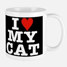 I Heart My Cat Mug Black w/white letters