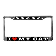 Cute Spayed License Plate Frame