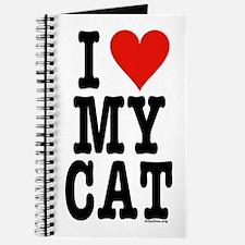 I Heart My Cat (White) Journal