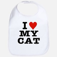 I Heart My Cat (White) Bib