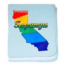 Topanga, California. Gay Pride baby blanket