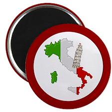 """Pixel Italy/Pisa"" 2.25"" Magnet (100 pack)"