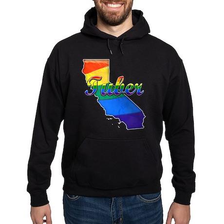 Tuber, California. Gay Pride Hoodie (dark)