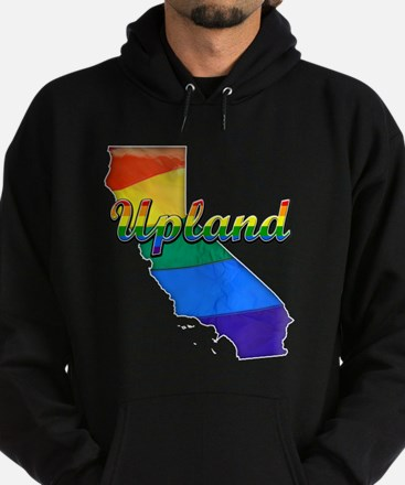 Upland, California. Gay Pride Hoodie (dark)