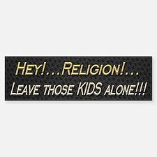 Leave Kids Alone Sticker (Bumper)