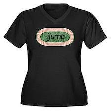 I Jump Track and Field Women's Plus Size V-Neck Da