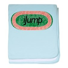 I Jump Track and Field baby blanket