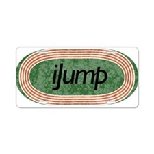 I Jump Track and Field Aluminum License Plate