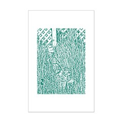 Cat in Tall Grass 2 Posters