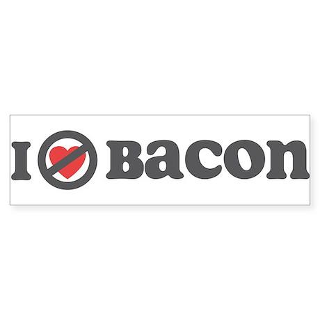 Don't Heart Bacon Sticker (Bumper)