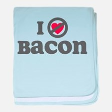 Don't Heart Bacon baby blanket
