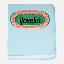 i Javelin Track and Field baby blanket