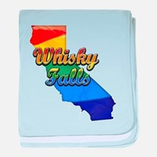 Whiskey Falls, California. Gay Pride baby blanket