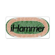 i Hammer Track and Field Aluminum License Plate