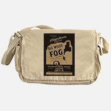 Big White Fog Messenger Bag