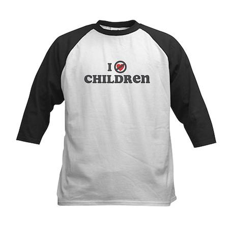 Don't Heart Children Kids Baseball Jersey