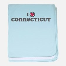 Don't Heart Connecticut baby blanket