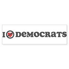 Don't Heart Democrats Bumper Sticker