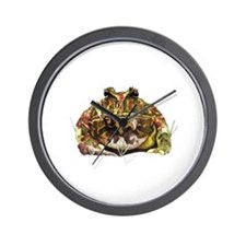 Pac man frog Wall Clock