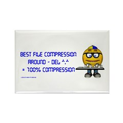 File Compression Rectangle Magnet
