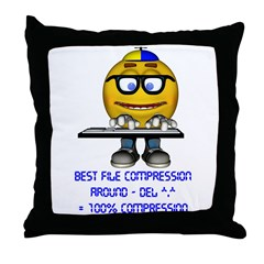File Compression Throw Pillow
