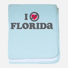 Don't Heart Florida baby blanket