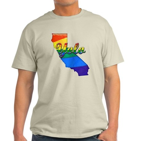 Yolo, California. Gay Pride Light T-Shirt