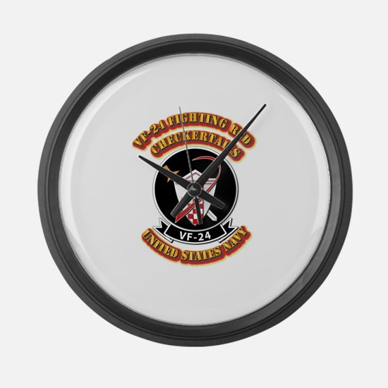 US - NAVY - VF-24 FR Checkertails Large Wall Clock