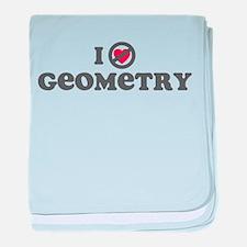 Don't Heart Geometry baby blanket