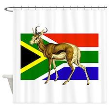 South Africa Springbok Flag Shower Curtain