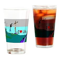 Christians Love Life Drinking Glass