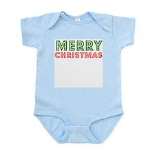 Merry Xmas Broadway Lights Infant Creeper