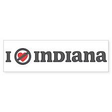 Don't Heart Indiana Bumper Sticker