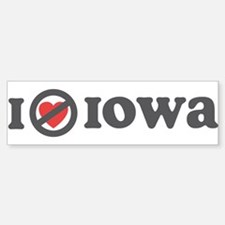 Don't Heart Iowa Bumper Bumper Sticker