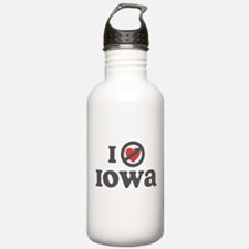 Don't Heart Iowa Water Bottle