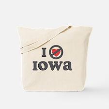 Don't Heart Iowa Tote Bag