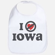 Don't Heart Iowa Bib