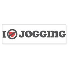 Don't Heart Jogging Bumper Sticker