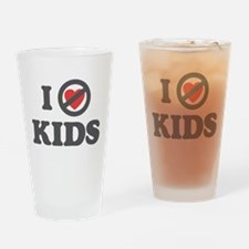 Don't Heart Kids Drinking Glass