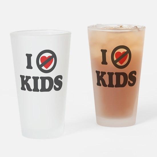 Don't Heart Kids Drinking Glass