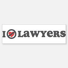 Don't Heart Lawyers Bumper Bumper Sticker