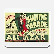 Swing Parade 1937 WPA Poster Mousepad