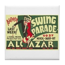 Swing Parade 1937 WPA Poster Tile Coaster