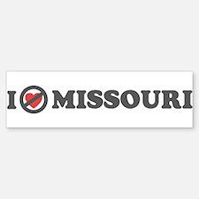 Don't Heart Missouri Bumper Bumper Sticker