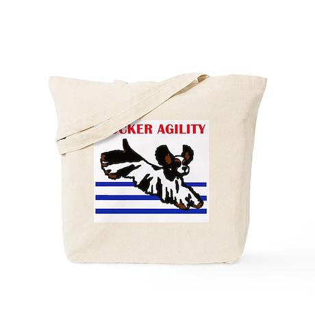 tri cocker agility Tote Bag