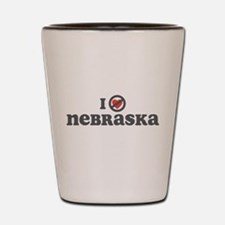 Don't Heart Nebraska Shot Glass