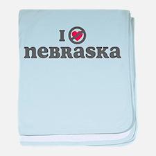 Don't Heart Nebraska baby blanket